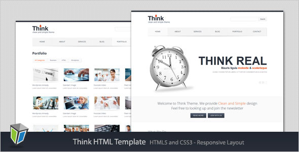 Think - Responsive Corporate HTML Template
