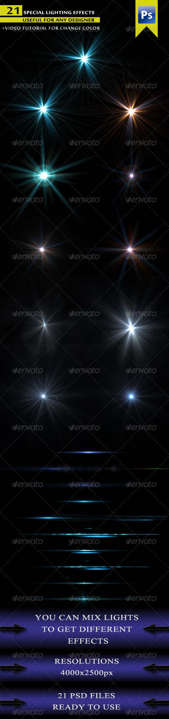 Light 21 Pack - Decorative Graphics