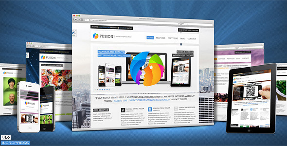 Fusion Responsive Premium Wordpress Theme - Preview image
