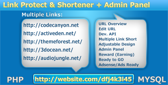 Protect- My- Links & Shortener - WorldWideScripts.net artículo en venta