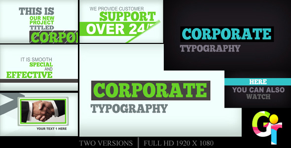 VideoHive Corporate Typography 2551573