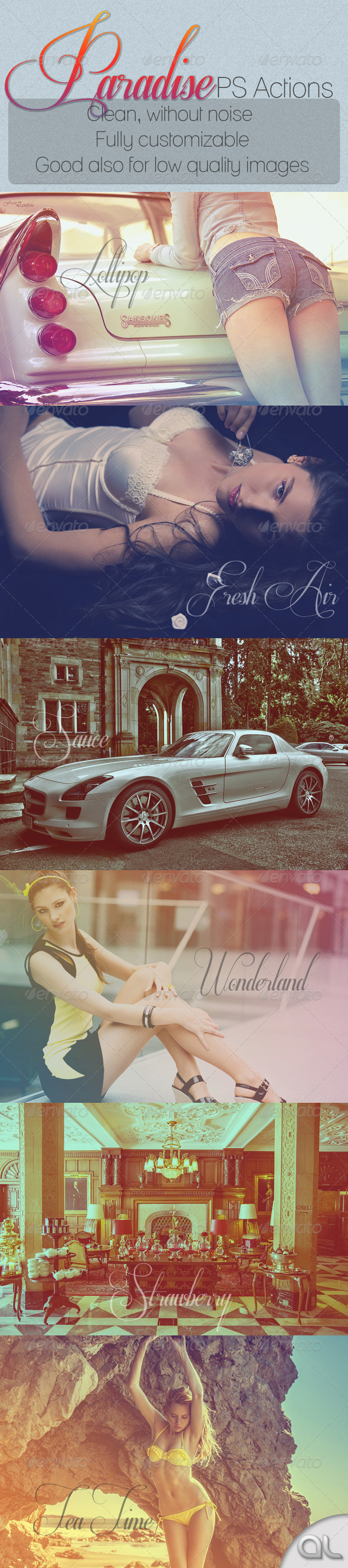 GraphicRiver Paradise PS Actions 2582277