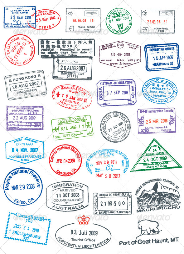 GraphicRiver Passport Stamps 151618