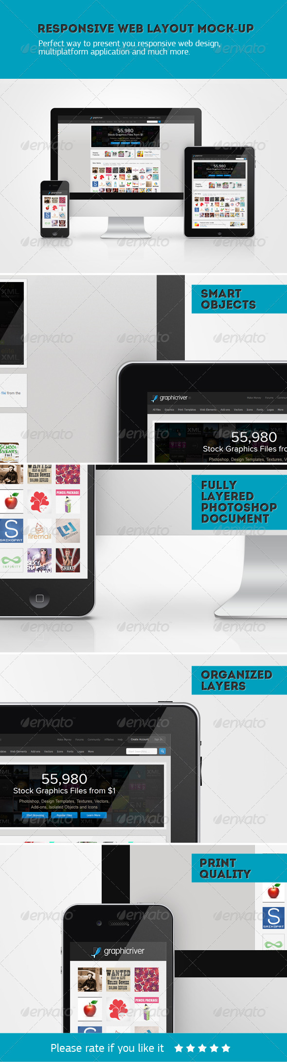 GraphicRiver Responsive Web Layout Mockup 2582514