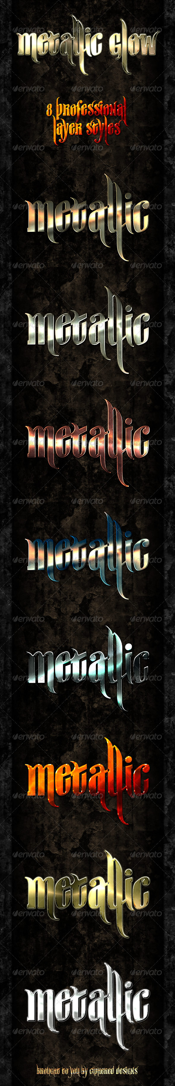 Metallic Glow - Professional Styles - Text Effects Styles