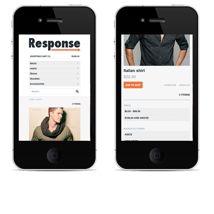 Response - Responsive Magento Theme