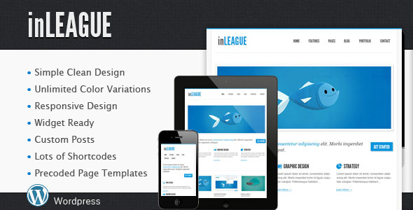 inLEAGUE Responsive Blog/Portfolio Wordpress Theme