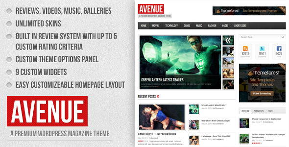 Avenue - A WordPress Magazine Theme - Blog / Magazine WordPress