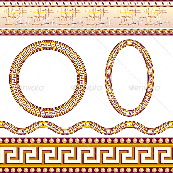 Greek border patterns - Backgrounds Decorative