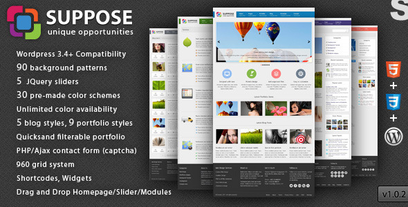 ThemeForest Suppose Premium Wordpress Theme 2332198