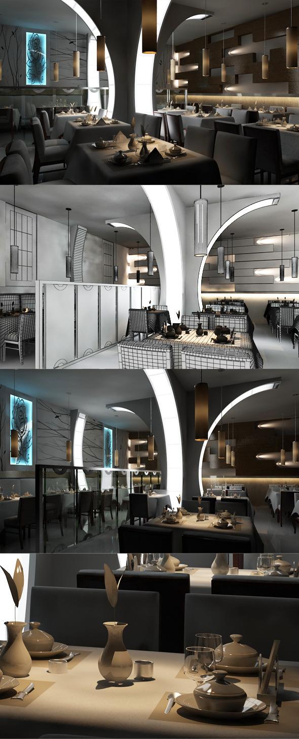 Restaurant 3D interior design 8080 104