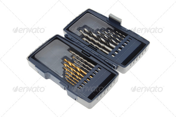 Drill bits isolated - Stock Photo - Images