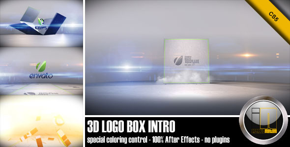 After Effects Project - VideoHive 3D Logo Box Intro 2584746