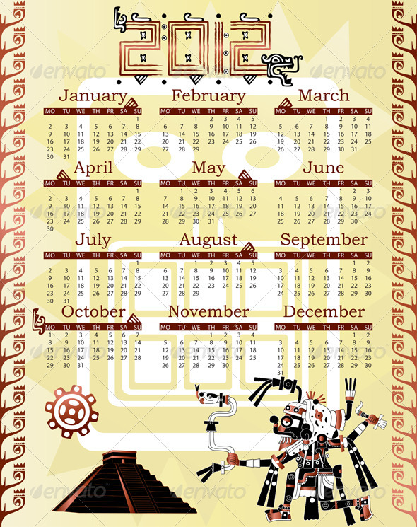 GraphicRiver Calendar in mayan style 2584753