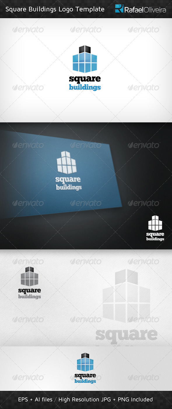 Square Buildings Logo Templates - Buildings Logo Templates