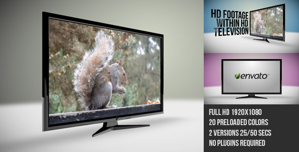 After Effects Project - VideoHive HD Television Set 2585134