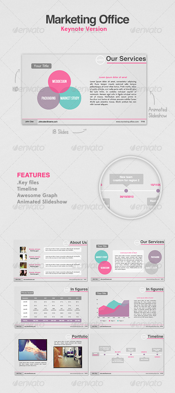 Marketing Office Presentation - Business Keynote Templates