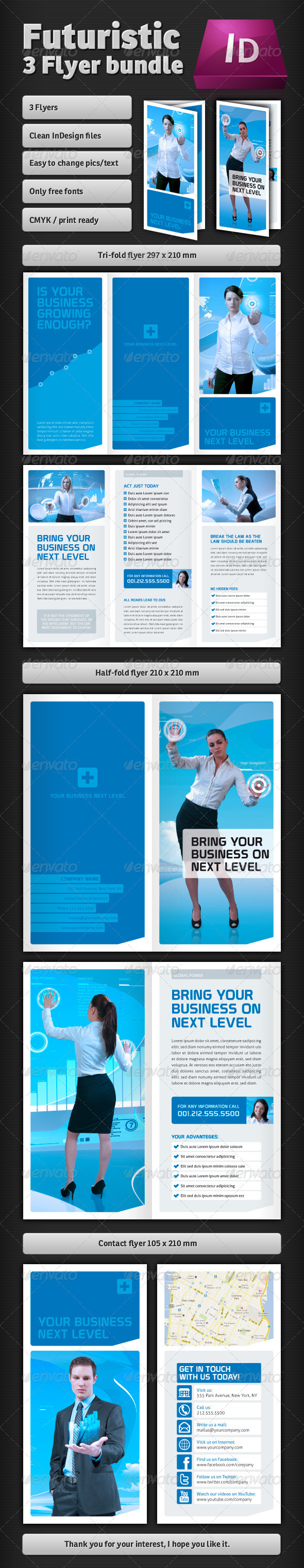 Futuristic Flyer Bundle - Corporate Flyers