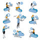 Cloud Computing Blue Girls Set - GraphicRiver Item for Sale