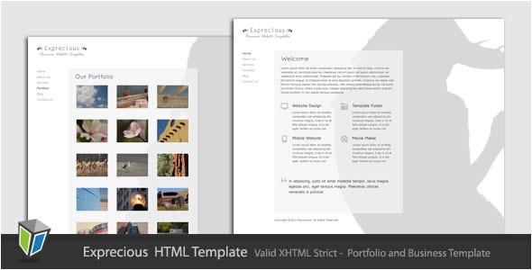 Exprecious - Portfolio and Business HTML Template