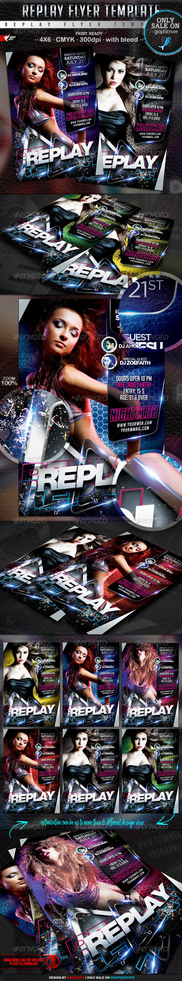 Replay Flyer Template - Events Flyers