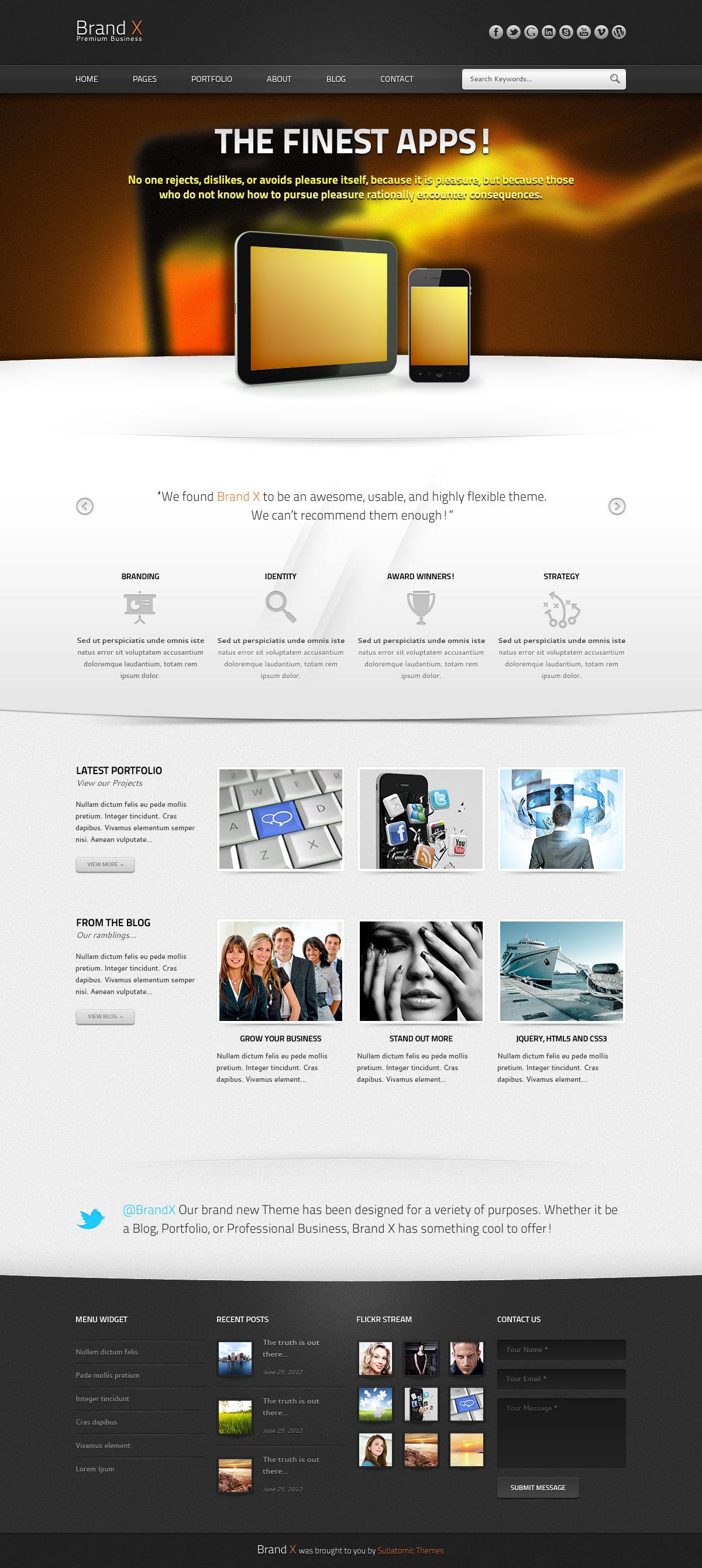 Brand X - Premium PSD Template