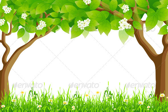 Summer Frame - Backgrounds Decorative