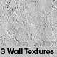 3 Wall textures + vray material