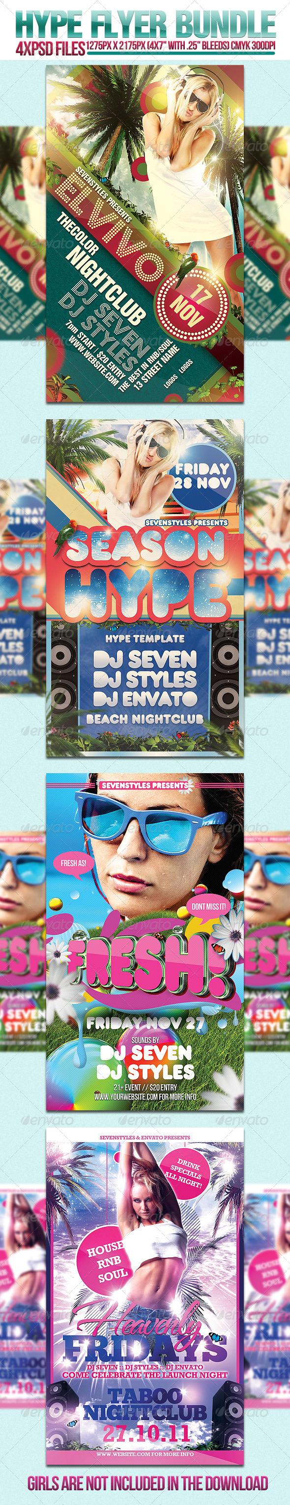 GraphicRiver Hype Flyer Bundle 289569