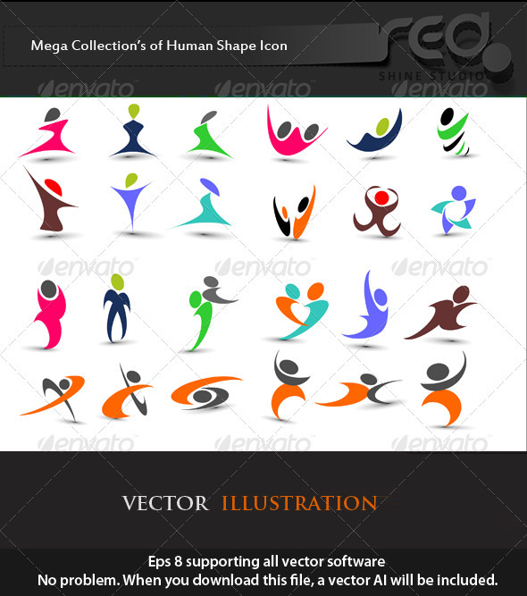 Fitness Human Icon Vector Pack - Web Elements Vectors