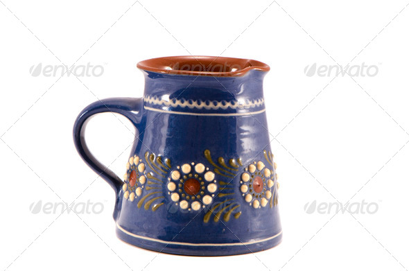 isolated decorative ceramics cup - Stock Photo - Images