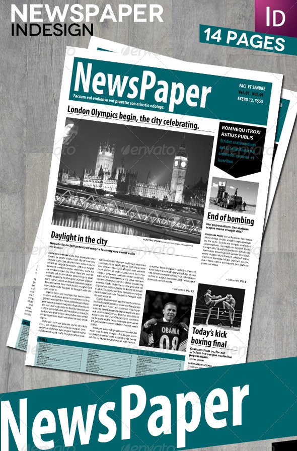 GraphicRiver InDesign Newspaper 14 Pages 2588008