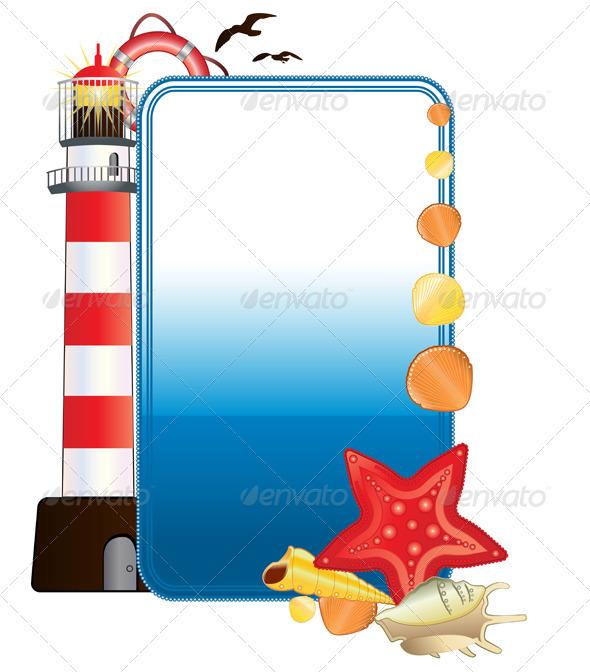 GraphicRiver Sea postcard with lighthouse 2588051