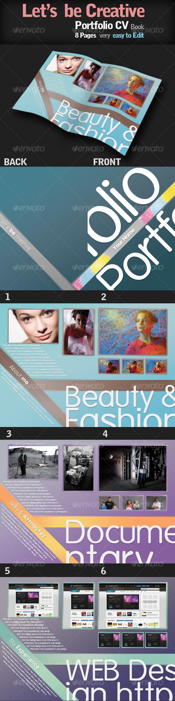 GraphicRiver Portfolio CV Book with style 92120