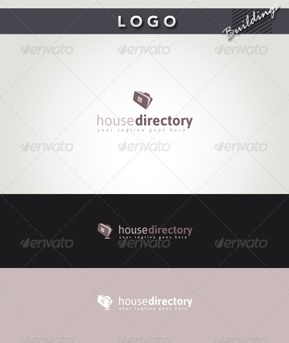 House Directory Logo - Buildings Logo Templates