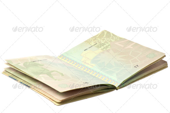 Passport with microchips - Stock Photo - Images