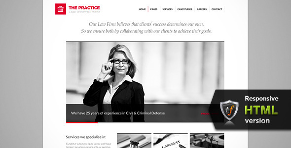 The Practice - Lawyer, Legal Offices HTML Theme - Business Corporate