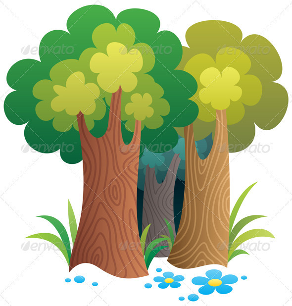 GraphicRiver Cartoon Forest 2589058