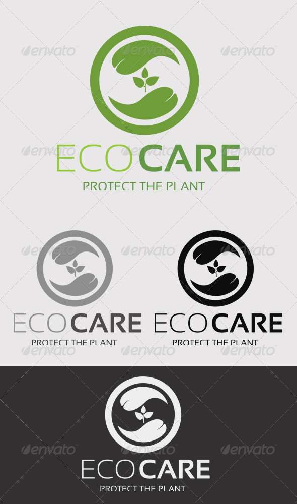 GraphicRiver Eco Care Logo 2589120