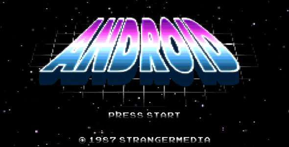 Retro 8-Bit Video Game Title Screens