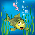 Funny fish and worm - PhotoDune Item for Sale