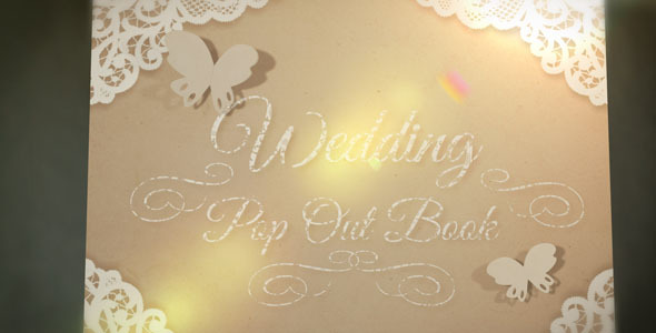 After Effects Project - VideoHive Wedding Pop Out Book 2589724