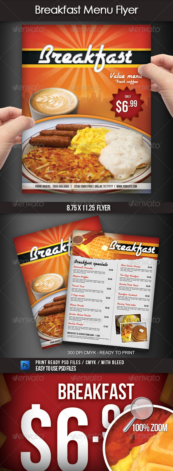 GraphicRiver Breakfast Menu Flyer 2583863