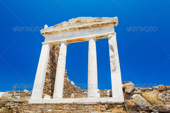 Greece Temple to the Gods - Stock Photo - Images