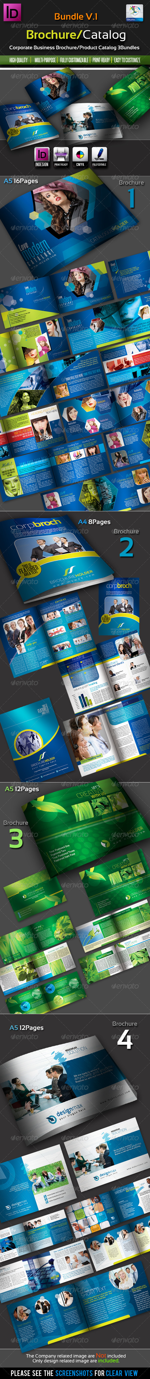 GraphicRiver Corporate Brochure Catalogue Bundles v.1 2590775