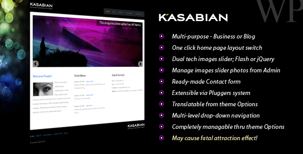 Sofa Kasabian - multipurpose WP Theme - Splash screen of Sofa Kasabian WP theme