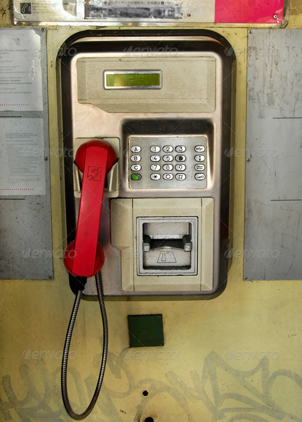 Public telephone - Stock Photo - Images