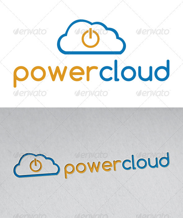 Power Cloud Logo - Objects Logo Templates
