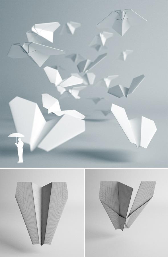 3DOcean Paper plane 2591689