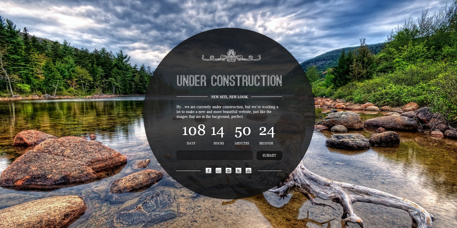Under Construction - A clean and elegant html5 and